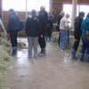 Milchziegenlehrfahrt Ziegenhof Hohenkarpfen Ziegenstall. Foto: LEV MS