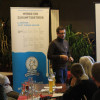 Infoabend Ziegenmilcherzeugung/Monte Ziego - Christian Wüst, Geschäftsführer von Demeter BW stellt den Verband vor. Foto: LEV MS