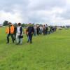Zahlreiche Interessierte auf dem Weg zum Exkursionspunkt. Foto: LEV MS