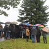 Besuch Minister Hauk am 6. Oktober - großes Interesse, trotz schlechten Wetters. Foto: LEV MS