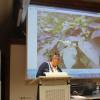 Infoabend Neophyten am 14. November - Begrüßung durch die Initiatorin Frau Kümmich, Ortsvorsteherin von Leinstetten und Bettenhausen. Foto: LEV MS