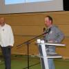 Die Schäfer Herbert Schaible und Theo Lehmann berichten über ihre Erfahrungen im Herdenschutzprojekt. Foto: LEV MS
